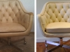Diamond-tufted Leather Chair - Before & After Photos
