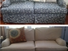 Custom Fitted Slipcover - Before & After Photos