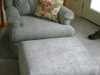 Chair, Ottoman & Throw Pillow - After Photo