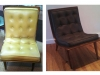 Button-tufted Scoop Chair - Before & After Photos